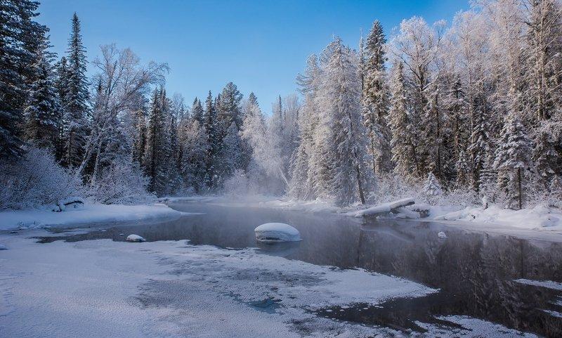 река мороз снег По берегам замерзающих рекphoto preview