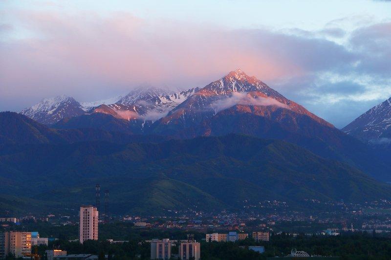 пейзаж, фотография, казахстан, шаварёв, алматы, Вечерний пейзаж.photo preview
