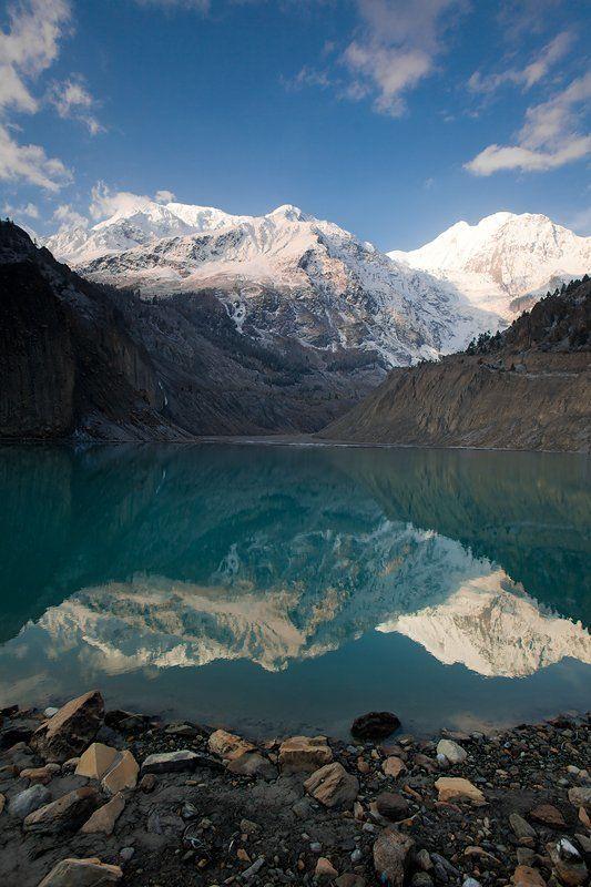 гангапурна, гималаи, непал, гора, озера Гангапурна. Real heaven on the Earth.photo preview