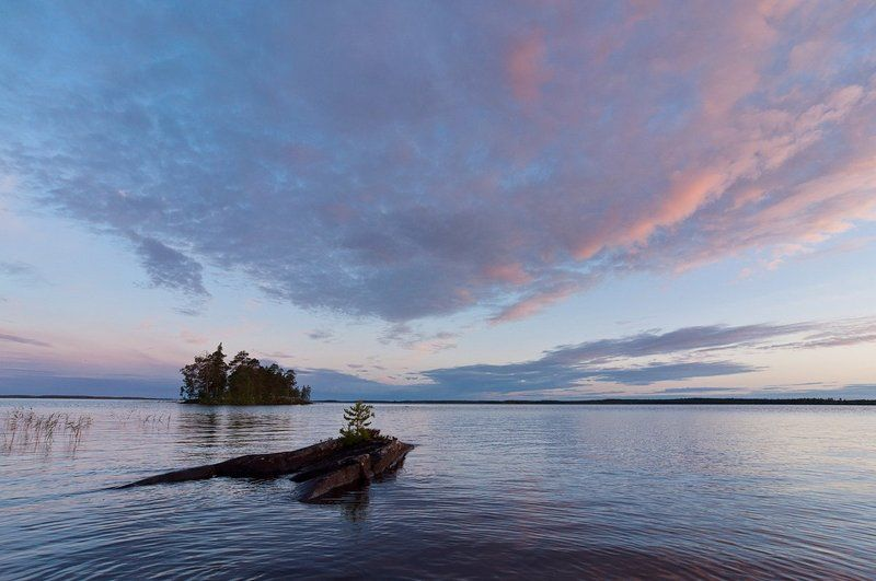 карелия, рассвет, озеро, вода, пейзаж, природа Рассвет в краю озерphoto preview