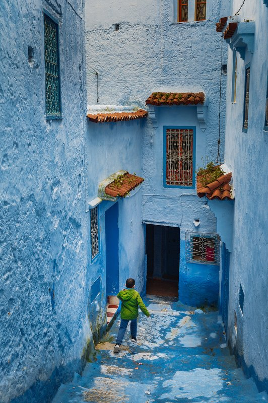 марокко, путешествие, архитектура, репортаж, африка Голубой городphoto preview