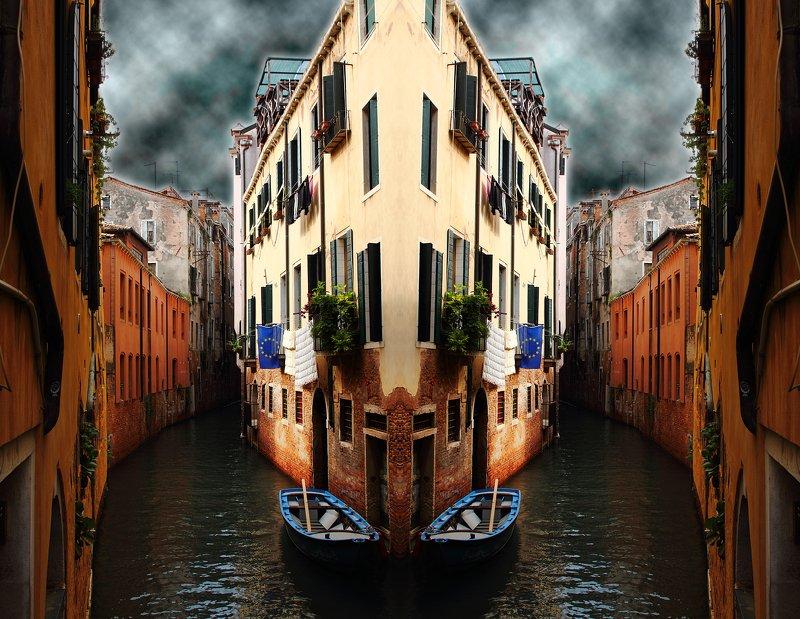 креатив, обработка, концепция, венеция, италия, concept, left, right, italy, venice Налево пойдёшь - направо попадёшь...photo preview