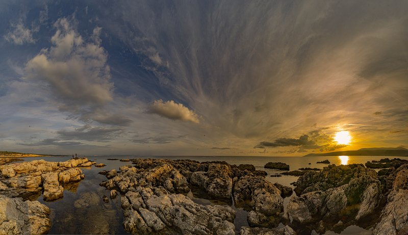 rocks,clouds,sky,mountains,sea,sun,sunrise, another day is overphoto preview