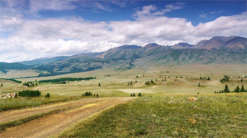 пейзаж, горы, облака, лето, Горный Алтай  Просторыphoto preview
