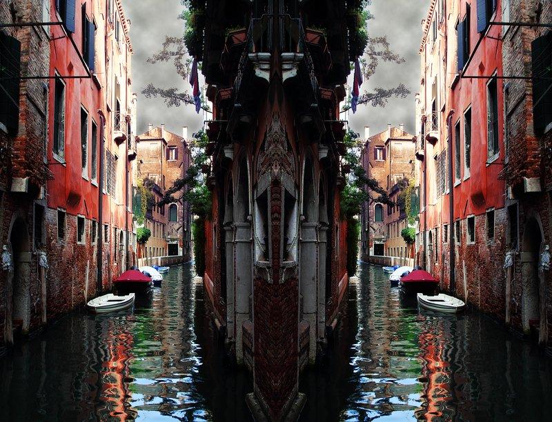 креатив, обработка, концепция, венеция, италия, concept, italy, venice, roads, labyrinths Все дороги ведут в...photo preview