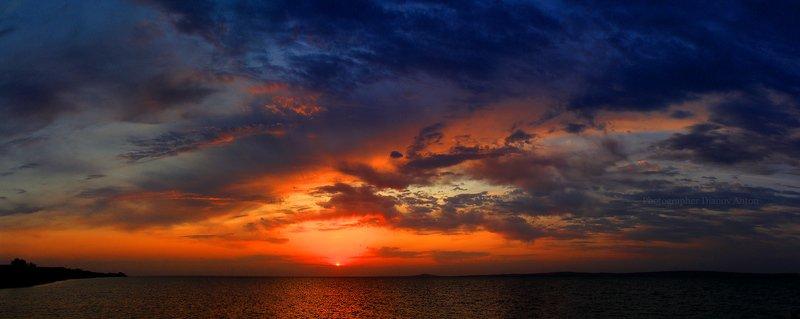 тамань, закат, море, таманский залив, солнце, небо, фанагория Взрыв Фанагорииphoto preview