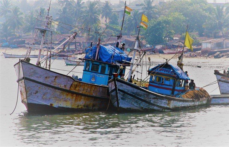 ...открытка о индиских рыбаках....photo preview