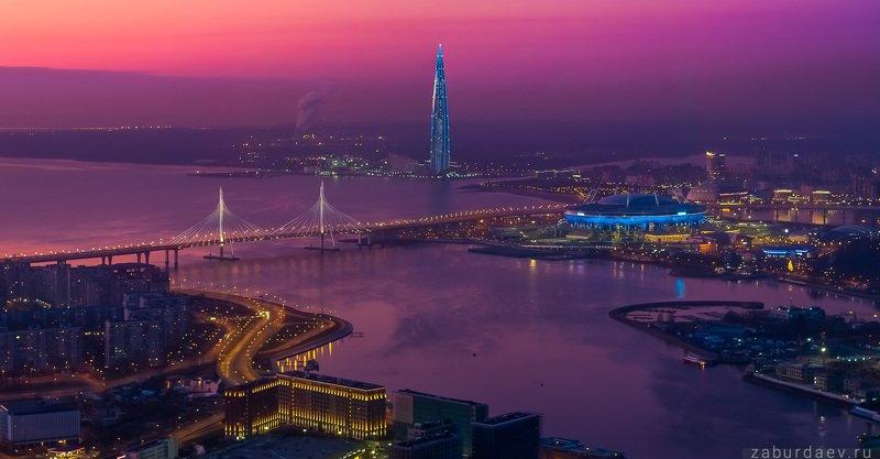 россия, петербург, вечер, закат, осень Новый Петербург фото превью