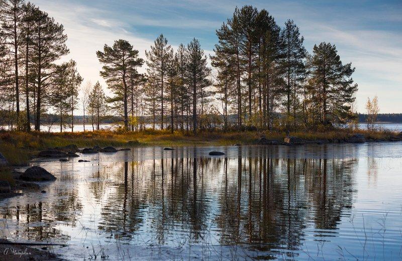 Карелия, пейзаж Первый лед.photo preview