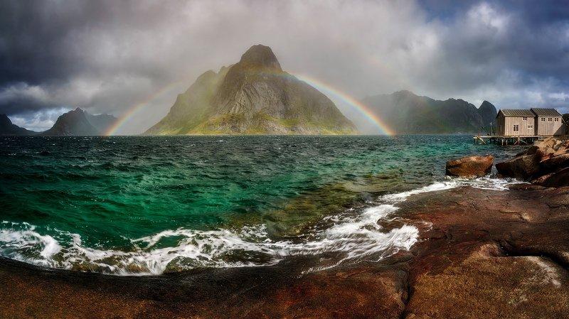 reine, lofoten, landscapes Lofoten rainbowphoto preview