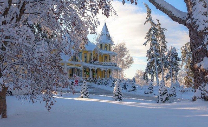 г. ньютон. штат нью джерси, графство сассекс. после трёхдневного зимнего шторма. Зимняя сказка начинается...photo preview
