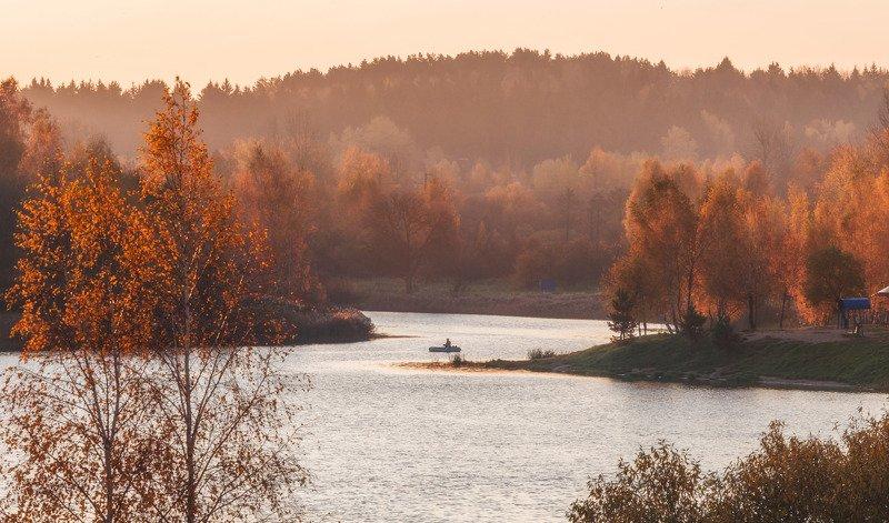 осень, минск, беларусь, криница, рассвет, рыбалка, лучиphoto preview