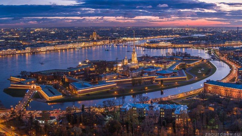 россия, петербург, санкт-петербург, город, архитектура, вечер, закат, осень, дрон, река, нева, крепость Петропавловская крепость фото превью