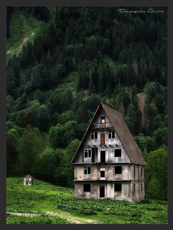дом,горы Затерянный в горах......photo preview