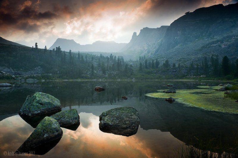 саяны, ергаки, озеро радужное ***photo preview