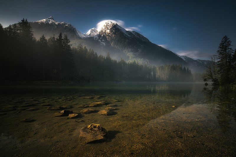 lake,alps,mountains,morning,travel,landscape Hintersee Moodphoto preview
