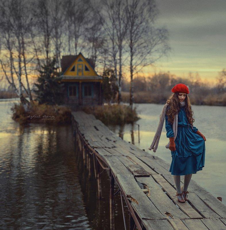 portreit people girl woman irinadzhul dzhulirina forestnature lake water dramatic story Storyphoto preview