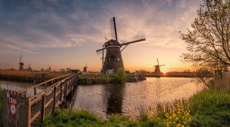 голландия, netherlands Утро в голландской деревнеphoto preview