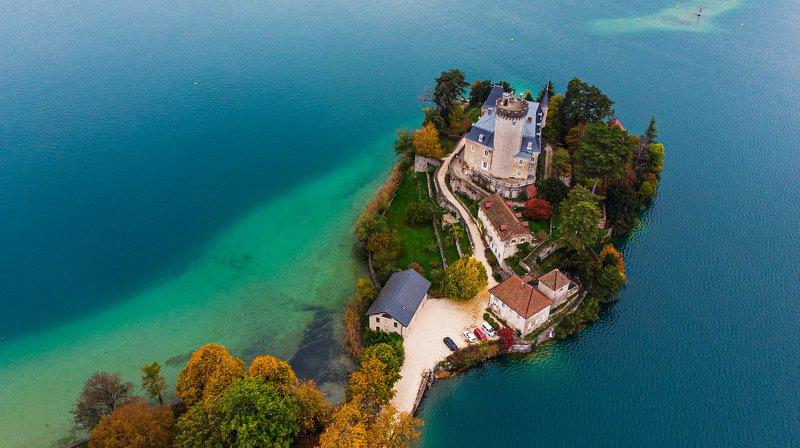 annecy, france, lake, chateau, анси, франция, озеро, замок [chateau de duingt]photo preview
