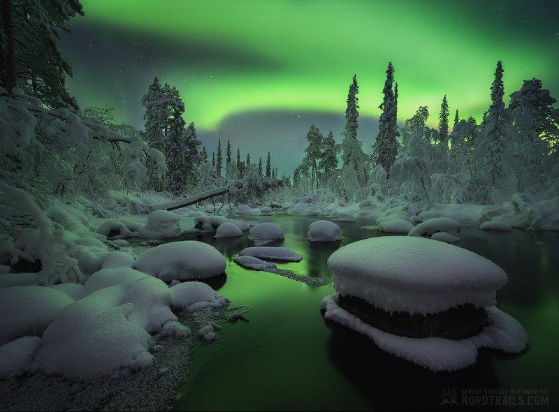 кольский, кольский полуостров, мурманск, зима, северное сияние, полярное сияние, север Кольский бургерphoto preview