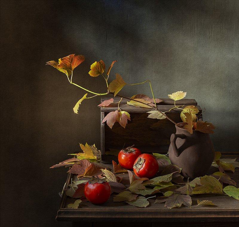 натюрморт, фрукты, хурма С хурмойphoto preview