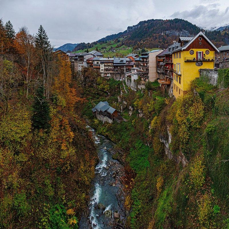 flumet, rhone-alpes, france, village, флюмет, альпы, франция, деревня [flumet village]photo preview