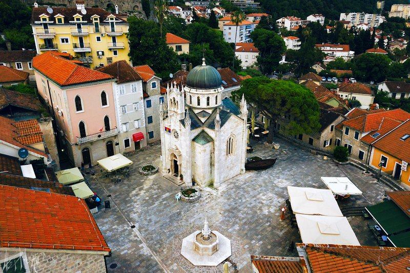 церковь, черногория, архангел, михаил, херцег нови Церковь Архангела Михаила на площади Белавистаphoto preview