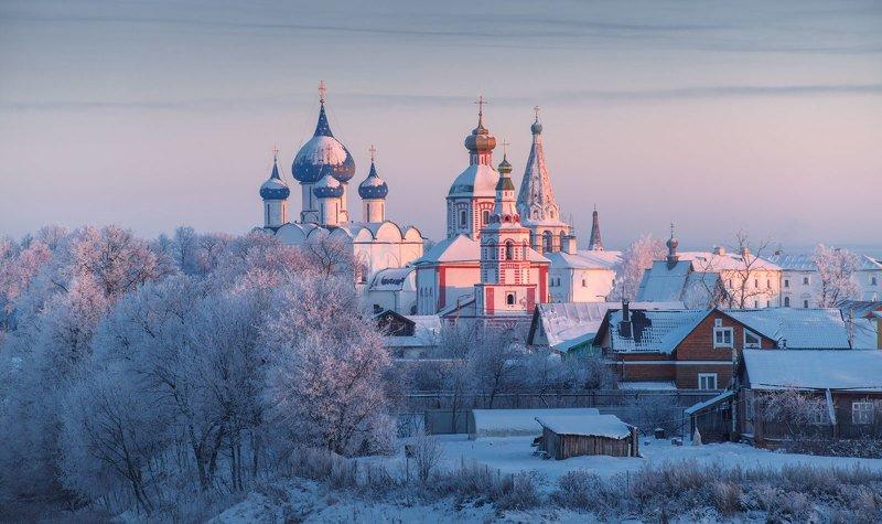 суздаль, владимирская область, зима, храм Суздальские зарисовкиphoto preview