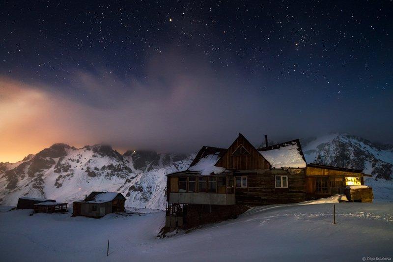 ночь, зима, горы, туюк-су, т-1, ледник, тянь-шань Ночь на станции Т-1photo preview