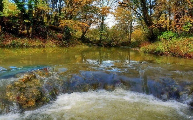 осень река перекат Осень. Перекат.photo preview