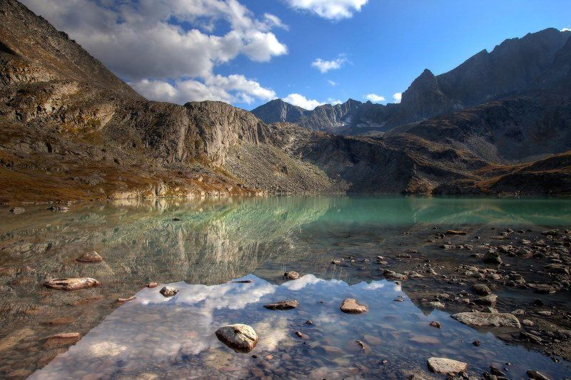 алтай, горный алтай, горы, пейзаж, акчан У горного озераphoto preview