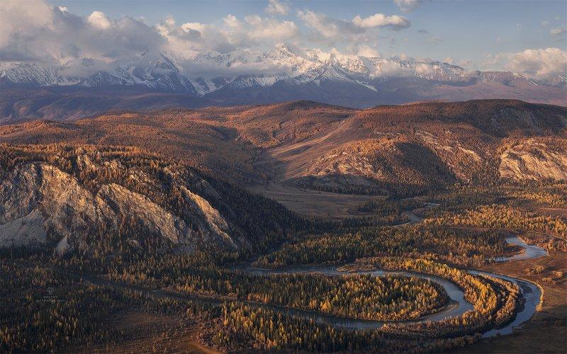 алтай, россия, курай, горы, осень, пейзаж, природа, степь Изгибы осениphoto preview