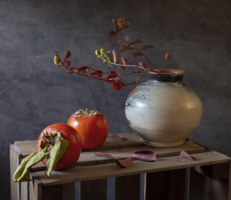 натюрморт, фрукты С хурмойphoto preview