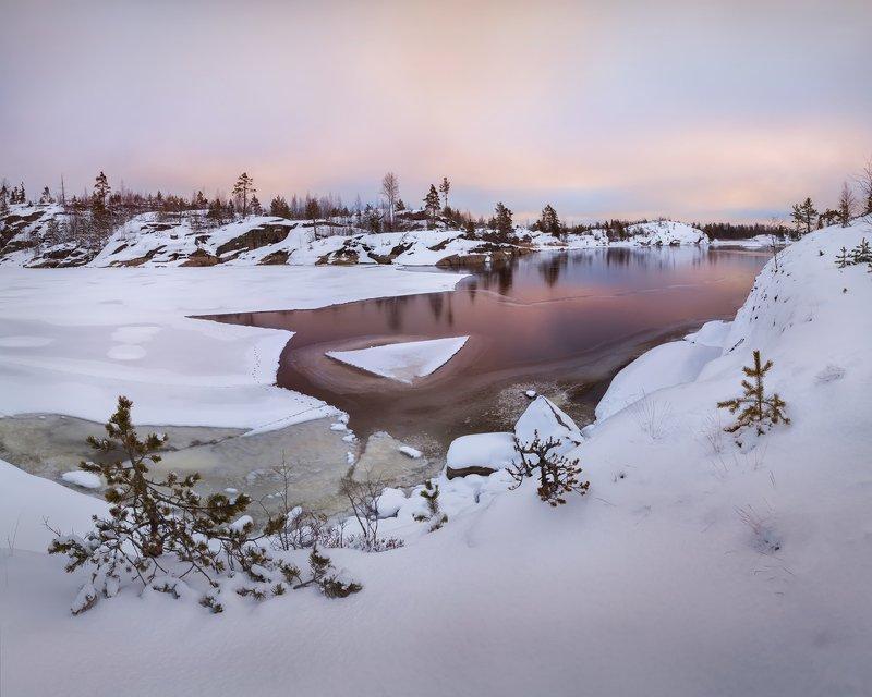 зимняя Ладога, Ладожское озеро зимой, зима на Ладоге, шхеры \