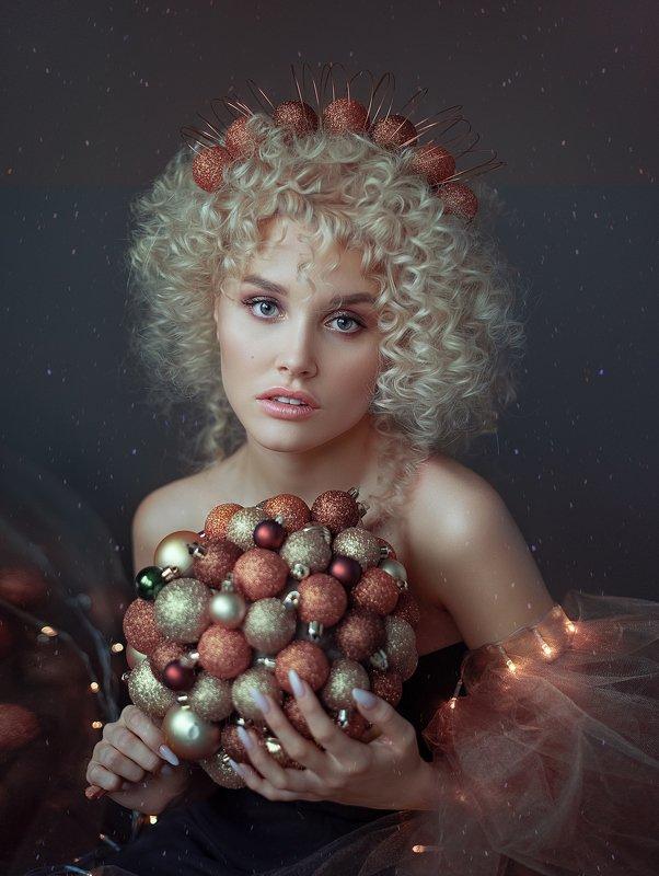 рождество, новый год, женскийпортрет, портет, женщина, глаза ,образ Рождествоphoto preview