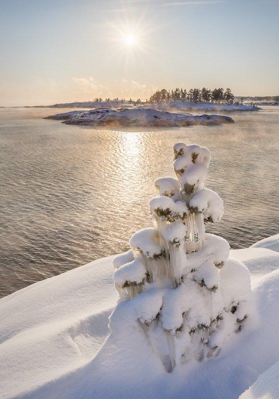 зимняя Ладога, шхеры зимой, карельская зима \