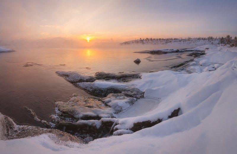 Ладожские шхеры зимой, зимняя ладога, Карелия зимой, зимний пейзаж \