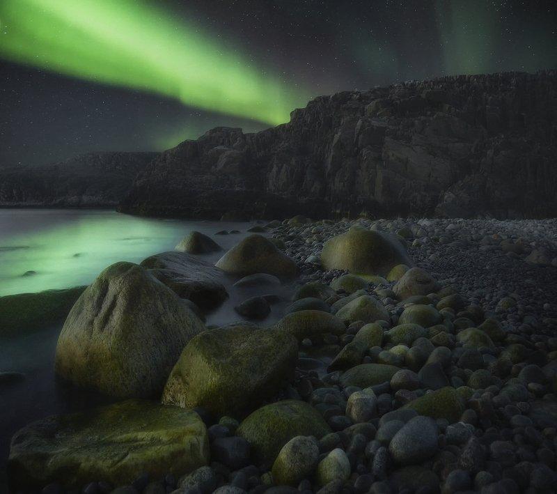 dalnie zelentsy, aurora, Kolskij, Дальние зеленцы, Кольский полуостров, сияние green stonesphoto preview