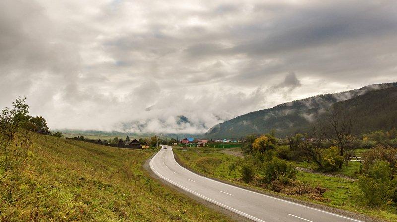 пейзаж, осень, гогы, Горный Алтай  Дорога в туман. photo preview