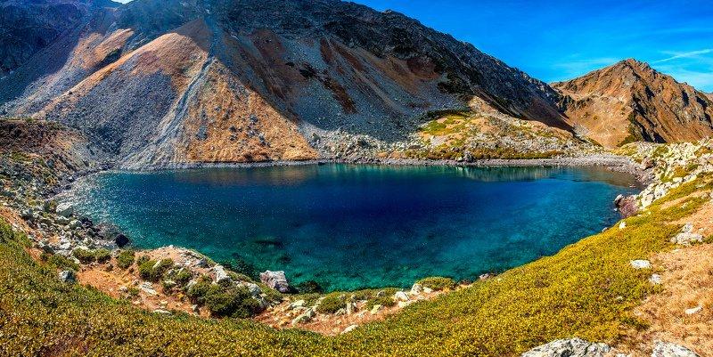 пейзаж горы архыз озёра озеро Семицветноеphoto preview