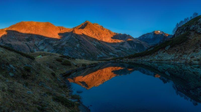 пейзаж горы архыз озёра Вечернее озероphoto preview