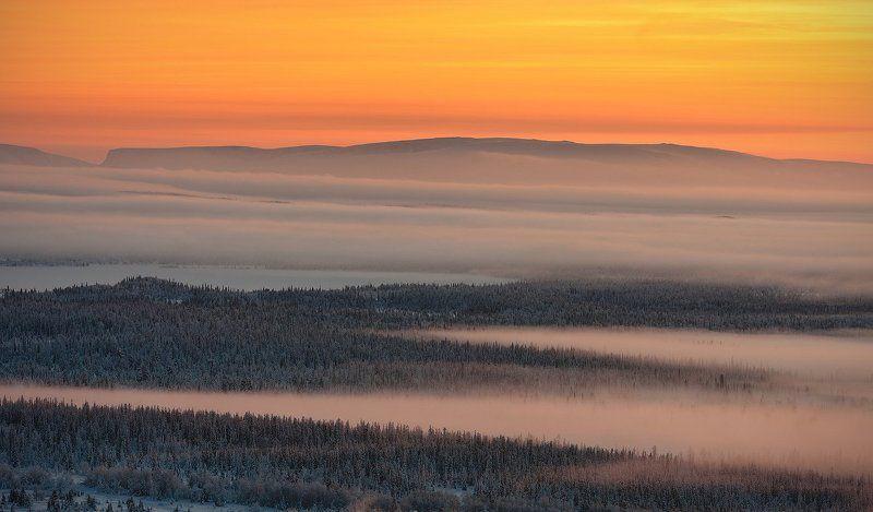 кольский, полуостров, зима Пробуждение севераphoto preview