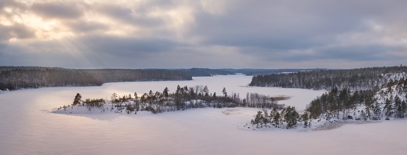 зима на ладожских шхерах, зимняя Ладога, Карельская зима \