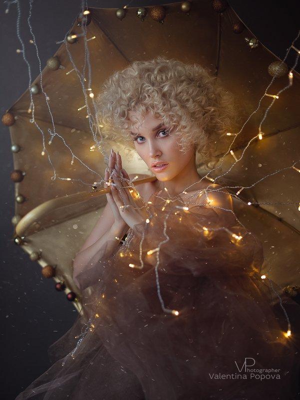 рождество, новый год, женскийпортрет, портет, женщина, глаза ,образ Аллаphoto preview