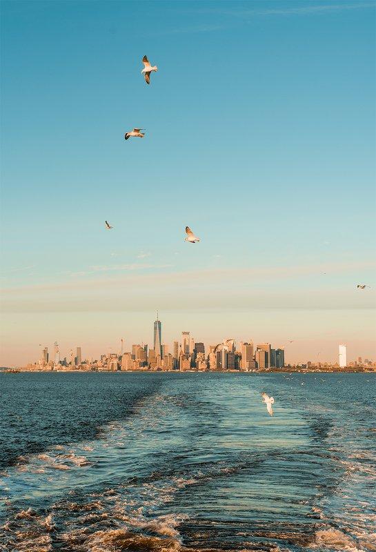 нью-йорк, манхэттен, мегаполи, океан Остров Манхэттенphoto preview