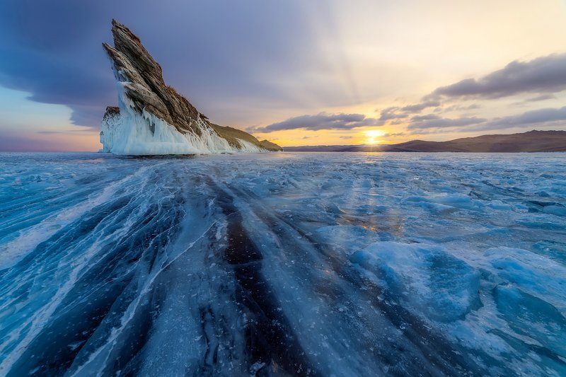 байкал, огой, ольхон, лед, зима, озеро Байкал, остров Огойphoto preview