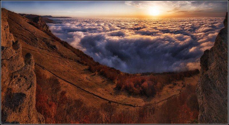 крым, демирджи, утро, панорама Встречая рассветphoto preview
