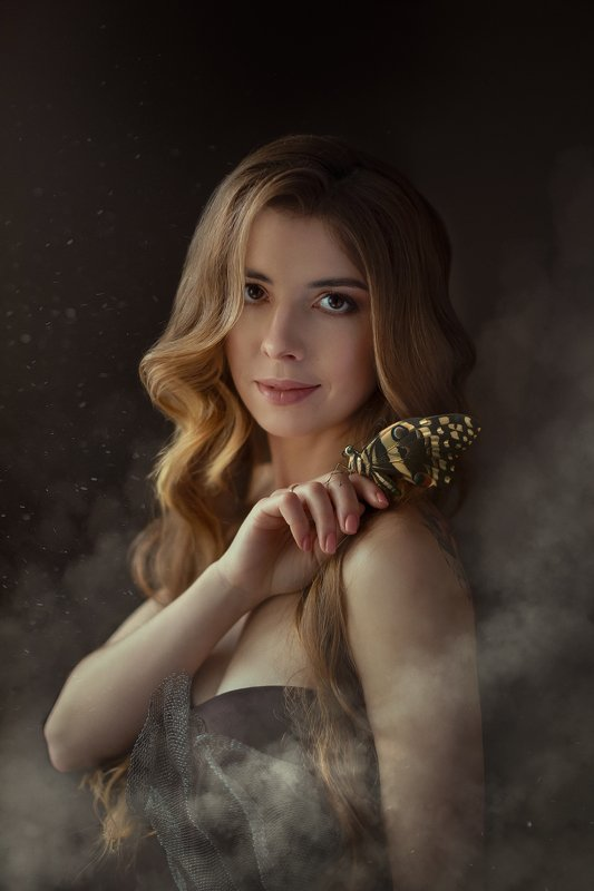 бабочк, портрет, арт , женщина Бабочкаphoto preview