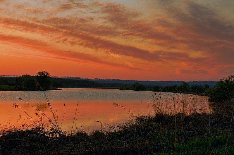 Утро на долгом озере.photo preview