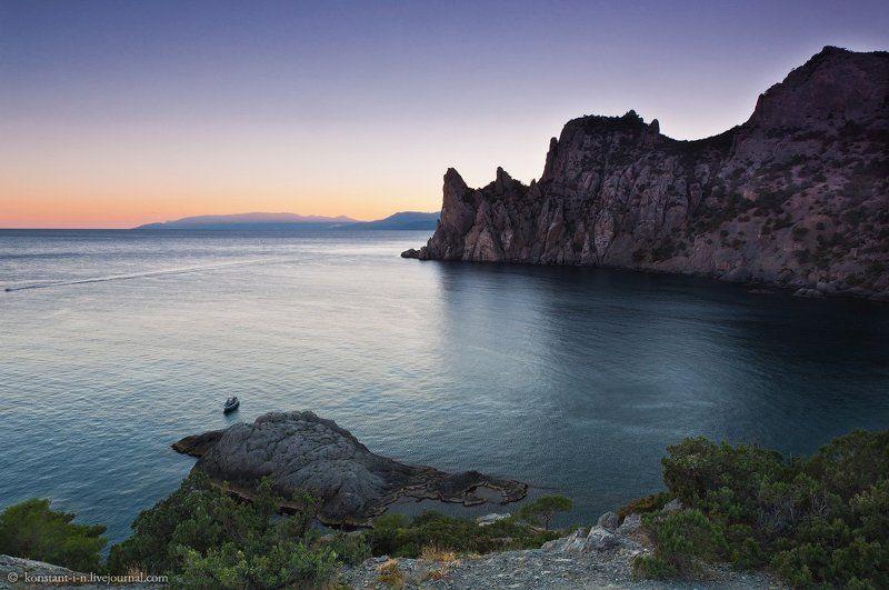 пейзаж, море, закат, бухта Голубая бухта после захода солнцаphoto preview